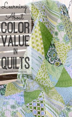 Creating great quilts starts with understanding Color Value. Read some of the tips I recently learned about Understanding Color Value in Quilts. quilting | sewing #seasonedhome xxx