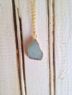 gold sea glass necklace  by BeachGirlGlassworks on Etsy, $18.00