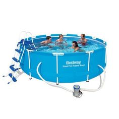 Piscine tubulaire ronde Bestway Steel Pro Frame x m Blue Pool, Quick Up Pool, Spa Intex, Pool Garden, Solar, Filters, Steel, Products, Make Up