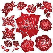 stencil de rosas ile ilgili görsel sonucu