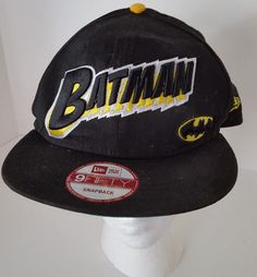 3c8d8c8425d Batman Hat New Era 9Fifty Snapback DC Comics Original One Size Fits Most New   DCComics