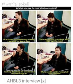 This has made my life. Thank you Misha Collins.