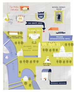 Lots of great places for tea in our nation's capital!  Map by Tania Willis