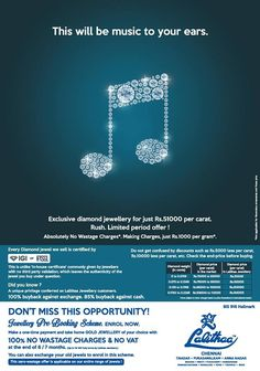LALITHAA_JEWELLERY presents an unbelievable offer on Diamonds that will be music to your ears....#lalithaajewellery.