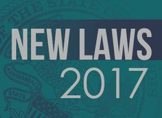 191 new laws take effect January 1, 2017. Here is a preview of 26 Illinoisans should know about:    Social media right to privacy   Publ...