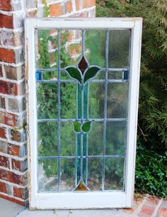 ANTIQUE STAINED GLASS WINDOWS - Yahoo Image Search Results Antique Stained Glass Windows, Stained Glass Panels, White Wood, Wood Frames, Outdoor Structures, Antiques, Pretty, Image Search, English