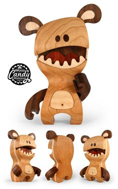 "SpankyStokes.com | Vinyl Toys, Art, Culture, & Everything Inbetween: ""Huxley"" wooden figure revealed from Cameron Tiede..."