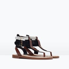 sandales tricolores, Zara