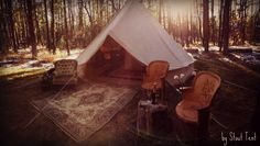 Glamping by Stout Tent - glamping camping camp champagne smores woods fireside vintage rustic belltent stouttent tent canvas arizona