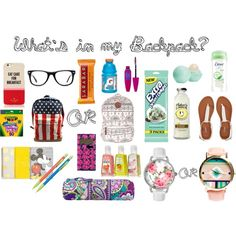 What's in my Backpack? #Polyvore