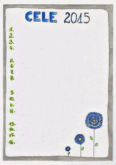 cele na 2015, kwiatki, ramka, kartka