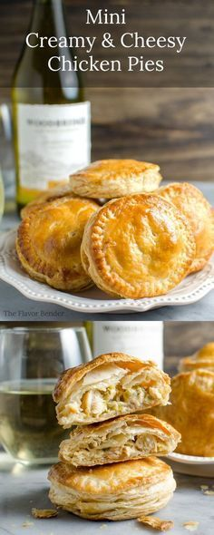 Msg 4 21 Mini Creamy And Cheesy Chicken Pies - The Perfect Snacks For The Big Game Or Any Party. Suggests a flavor like Mini Chicken Pot Pies But Better Plus Learn How To Pair These With The Perfect Wine. Tapas, Comidas Light, Think Food, Cheesy Chicken, Creamy Chicken Pie, Chicken Pot Pies, Grilled Chicken, Appetizer Recipes, Appetizer Dessert