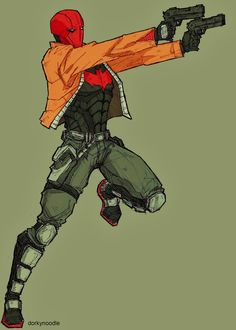 Red Hood by *dorkynoodle on deviantART... Red Hood is my comic book crush <3