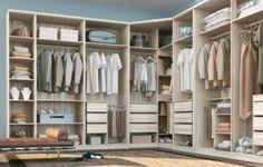 Projetos de guarda-roupas de canto otimizam o espaço do quarto (Foto: habitissimo.com.br)