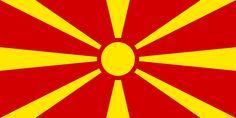 Flag of Macedonia - Galeria de bandeiras nacionais – Wikipédia, a enciclopédia livre
