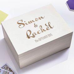 Post wedding to do list: Buy a keepsake box