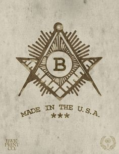 Masonic B Logo  by ~bwkprintco - This guy does some amazing artwork.