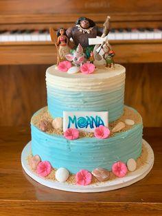 Moana Birthday Decorations, Moana Birthday Party Theme, Moana Themed Party, 3rd Birthday Cakes, Luau Birthday, First Birthday Parties, Moana Theme Cake, Birthday Ideas, Moana Party