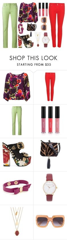 """Tell me something"" by camry-brynn ❤ liked on Polyvore featuring Trina Turk, 7 For All Mankind, Etro, Sigma, FAUSTO PUGLISI, Xaa, Salvatore Ferragamo, Kate Spade, Madewell and Gucci"
