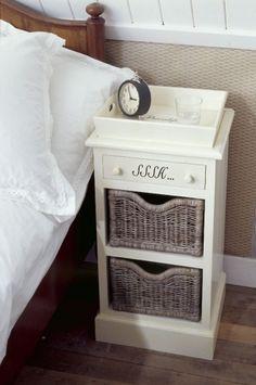 Szafka nocna z szufladą SSSH... kremowa - stoliki i konsole - HOUSE