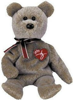 TY BEANIE: 1999 SIGNATURE BEAR (Beanie Babies Collection) (New/Tag)