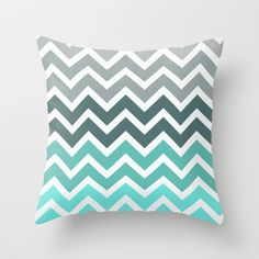 Tiffany Fade Chevron Pattern by RexLambo as a high quality Throw Pillow. Free Worldwide Shipping available at Society6.com from 11/26/14 thru 12/14/14. Just one of millions of products available.
