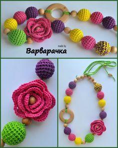 Nursing Necklace flower Wood Nursing Necklace от ForYourHappyBaby