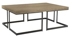 Living room--Bernhardt | Elements Cocktail Table (Sand Finish) (335-024S)