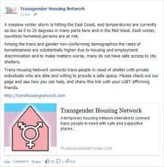Did you know that Trans Housing Network has a facebook page? Don't forget to like us at http://facebook.com/TransHousingNetwork
