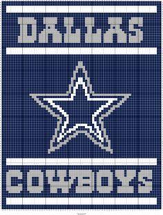 Cross Stitch Pattern Maker, Cross Stitch Patterns, Cross Stitches, Afghan Crochet Patterns, Crochet Chart, Dallas Cowboys Blanket, Dallas Cowboys Logo, Bobble Stitch Crochet, C2c Crochet