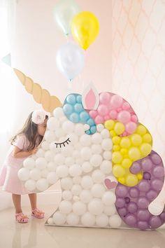 DIY Unicorn Balloon Decoration   DIY Balloon Party Ideas   Pretty My Party