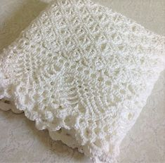 Vintage Crochet Pattern Victorian Lace A - Diy Crafts Crochet Baby Shawl, Crochet Baby Blanket Free Pattern, Kids Crochet, Booties Crochet, Crochet Hats, Baby Afghan Patterns, Baby Afghans, Christening Blanket, Vintage Crochet Patterns