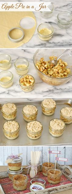 How to Make Apple Pie in a Jar - by GloriousTreats.com