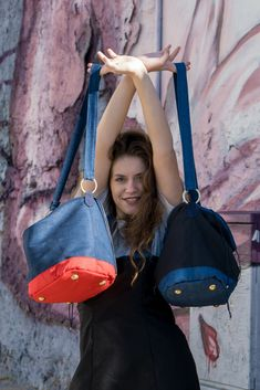 nice bucket upcycled jeans bags