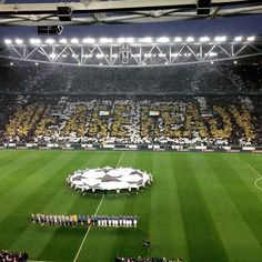 "Coreografia fantastica. ""We are ready"" #JuventusRealMadrid"
