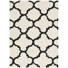 Safavieh Chatham round Rug Ivory Black. in stock 5/15/2014 @ Wayfair. Google CHT717A might help in finding lower price or one that's in stock now.