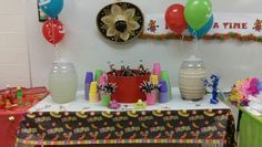 Drinks for Mexican Candy Table Mexican Candy Table, Mexican Party, Party Themes, Drinks, May 5, Drinking, Mexican Fiesta, Beverages, Drink