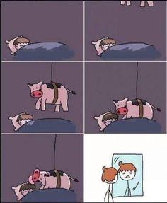 So funny! Cow lick!