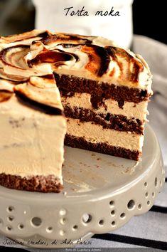 Köstliche Desserts, Italian Desserts, Delicious Desserts, Dessert Recipes, Mocha Chocolate, Chocolate Recipes, Charlotte Torte, Torte Cake, Bakery Recipes