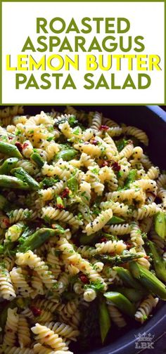 Lemon Asparagus, Asparagus Pasta, Asparagus Side Dish, Lemon Pasta, Kitchen Recipes, Cooking Recipes, Healthy Recipes, Pasta Salad Recipes, Veggie Pasta Salads