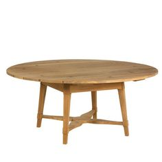 """Hameau Round Dining Table - I like this one in the weathered teak.  65"""" diameter"""