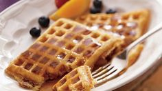 Bacon and buttermilk add an irresistible flavor to these homemade waffles that are made using Gold Medal® all-purpose flour.