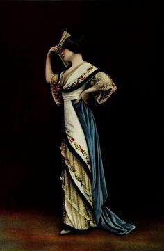 Robe du Soir 1912 Les Modes (Paris) 1912 Robe du Soir par Beer