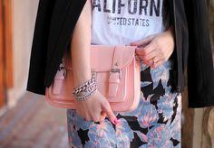 Pink bag + florals