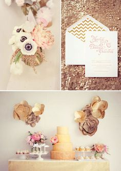 Gorgeous gold wedding details - so chic! #tietheknot