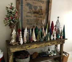 My Christmas forest…. I am fascinated by all the different kinds tha… My Christmas forest…. I am fascinated by all the different kinds that are available these days. Christmas Mantels, Noel Christmas, Merry Little Christmas, Christmas Projects, Woodland Christmas, Christmas Tree Table, Christmas Tree Forest, Christmas Christmas, Christmas Lights