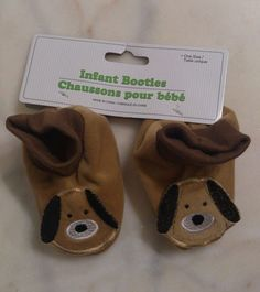 Infant Child Puppy Dog Booties. NEW.  USA Seller. One size