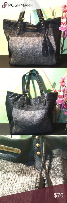 Juicy Couture Leather/Wool Ombré Tote/Shopper Excellent condition inside and out. Juicy Couture Bags Totes
