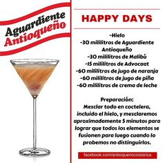 ¡Aguardiente Antioqueño combina con todo! #Aguardiente #Antioqueño #Coctel #Cocktail #Happy #Days Non Alcoholic Drinks, Cocktail Drinks, Cocktail Recipes, Beverages, Cocktails, Lemon Water, Bartender, Happy Hour, Whisky