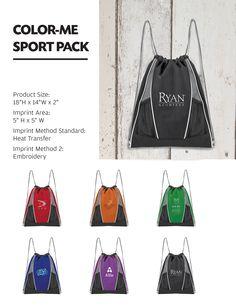 095112fcb5533 COLOR-ME SPORT PACK - 600D Polyester pack